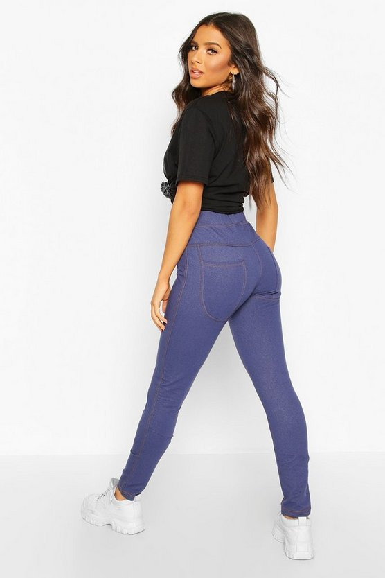 Bum Lifting Pocket Back Basic Jeggings